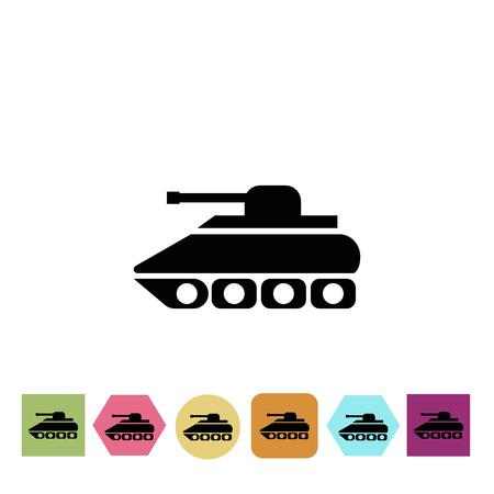 military tank: Military tank icon Illustration