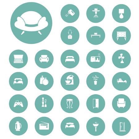 shower stall: Set of twenty seven house icons