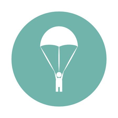 parachutist: Parachutist icon Illustration