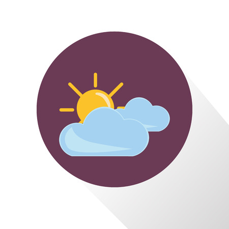 partly cloudy: Illustration of partly cloudy icon