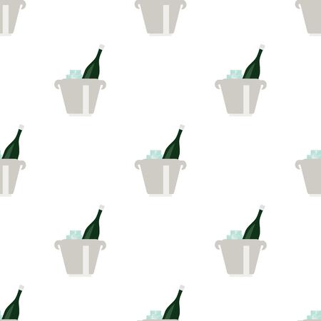 bucket of money: illustration of champagne in bucket icon Illustration