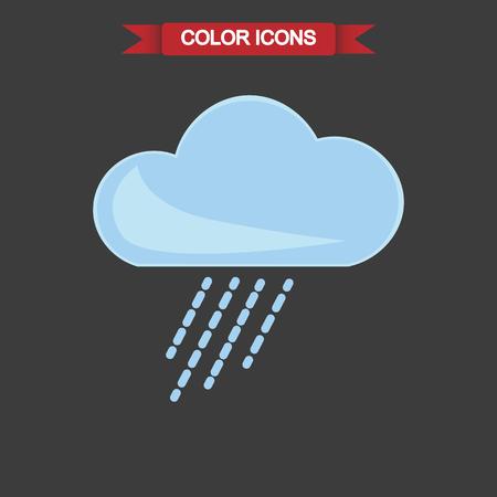 sediment: Illustration of rainy weather icon