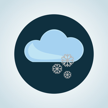forecaster: Illustration of snow weather icon Illustration