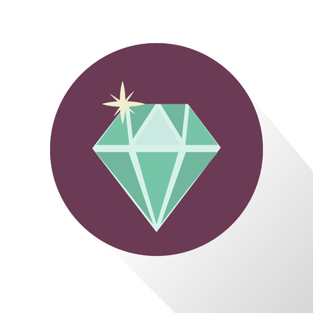diamond stones: Illustration of diamond icon Illustration