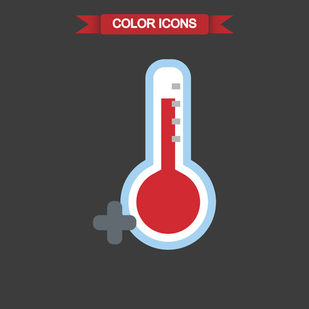 forecaster: Illustration of the temperature is above zero icon Illustration