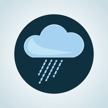 forecaster: Illustration of rainy weather icon