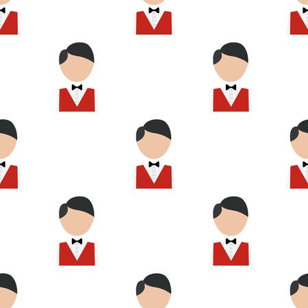 croupier: Illustration of casino croupier icon Illustration