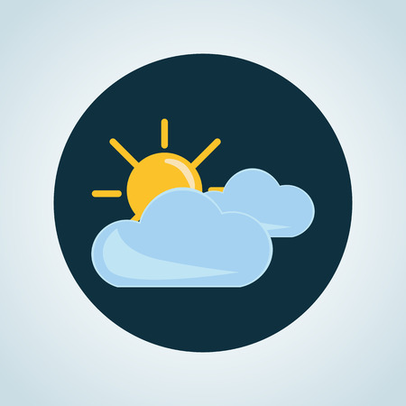 partly: Illustration of partly cloudy icon