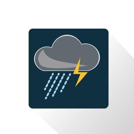 Illustration of storm weather icon