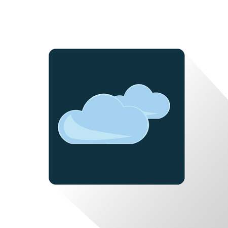 cloudy weather: Illustration of cloudy weather icon