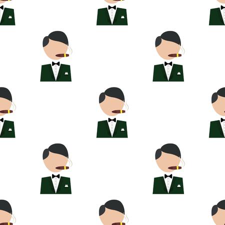 Illustration of casino player icon