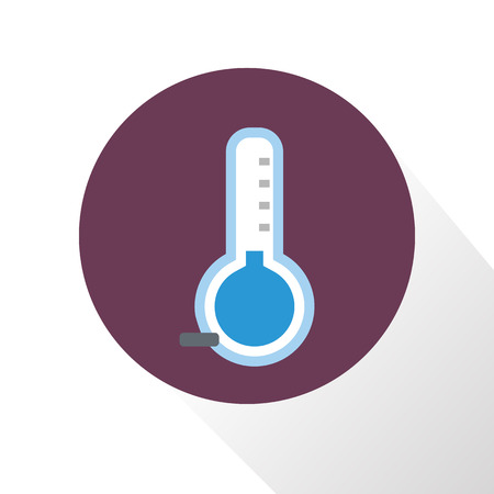 forecaster: Illustration of the temperature is below zero icon Illustration