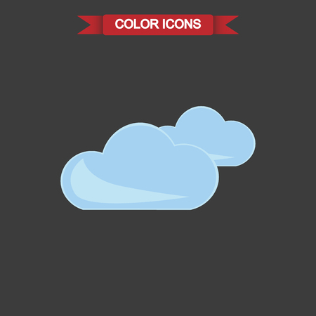 forecaster: Illustration of cloudy weather icon
