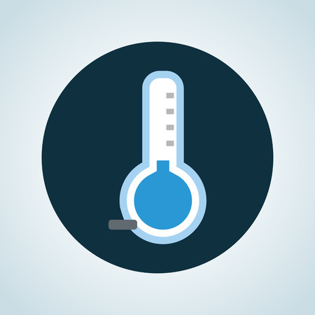 forecaster: Illustration of the temperature is below zero icon Illustration
