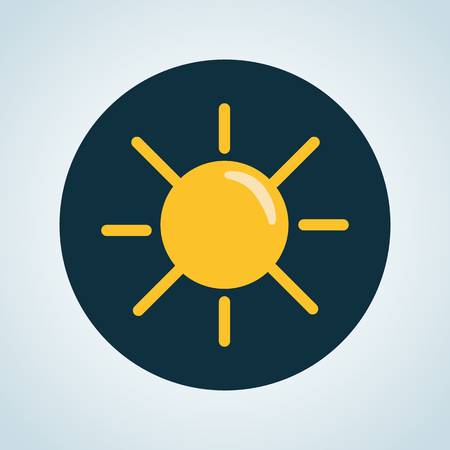 forecaster: Illustration of sunny weather icon
