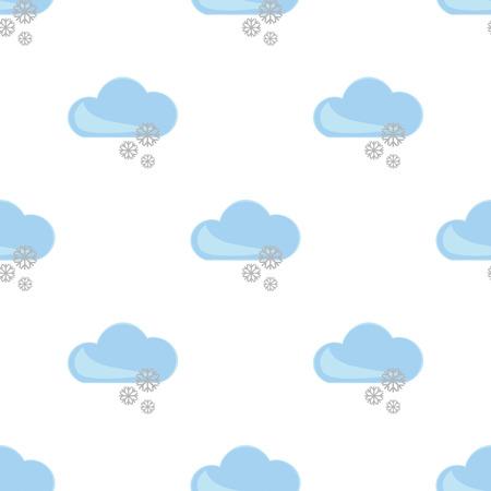 forecaster: Illustration of snow weather icon Illustration