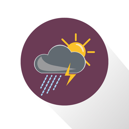 sediment: Illustration of storm weather with sun icon