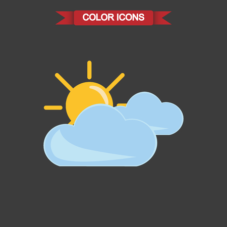 cloudy: Illustration of partly cloudy icon