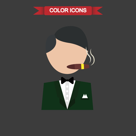 respectability: Illustration of casino player icon