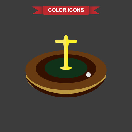 roulette player: Illustration of casino roulette icon Illustration
