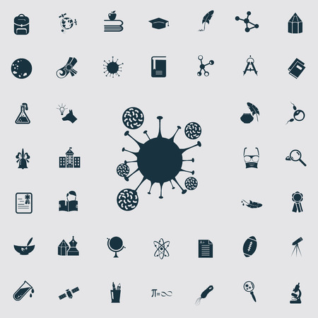 forty: Set of forty science and education icons Illustration