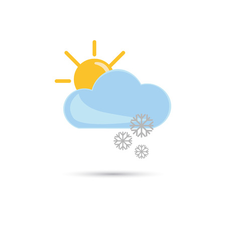 forecaster: Illustration of snow sunny weather icon