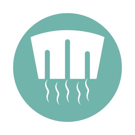 dam: Water energy dam icon Illustration