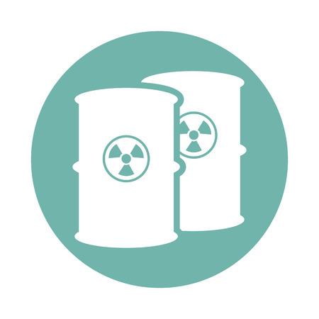 poison symbol: Toxic waste barrel icon