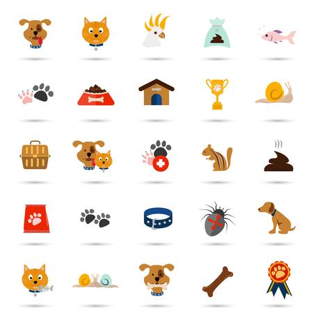 twenty five: Set of twenty five color veterinary icons