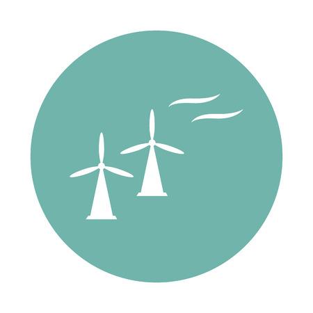 constrution: Wind turbine icon Illustration