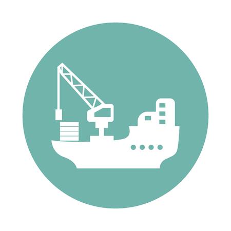 barge: Cargo barge icon