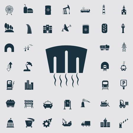 Set von vierzig Industrie und Infrastruktur-Icons
