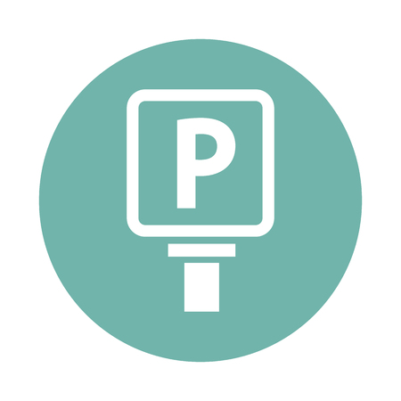 plate: Parking plate icon Illustration