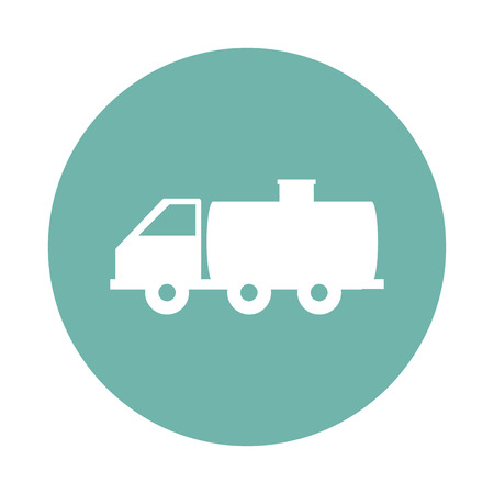 tanker: Milk tanker icon Illustration