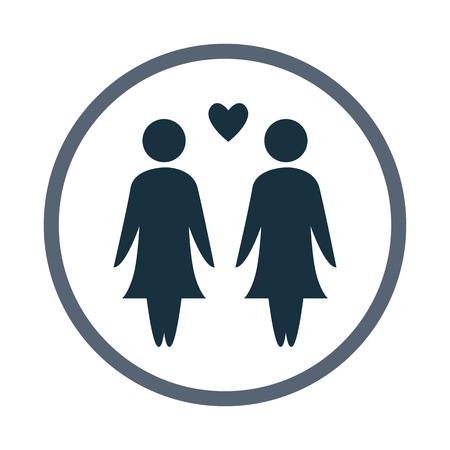 kin: Woman love icon
