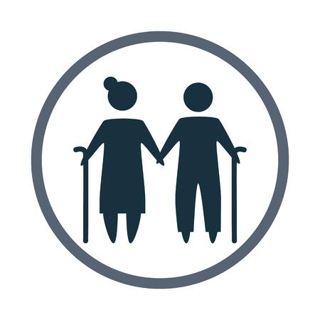 kinship: Grandfather and grandmother icon