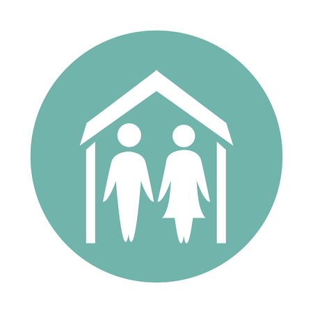 kinship: Family house icon
