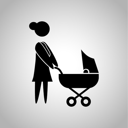 kinship: Woman with baby icon Illustration
