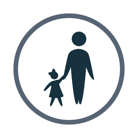 kinship: father with child icon