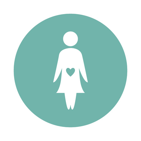 kinship: Pregnant woman icon