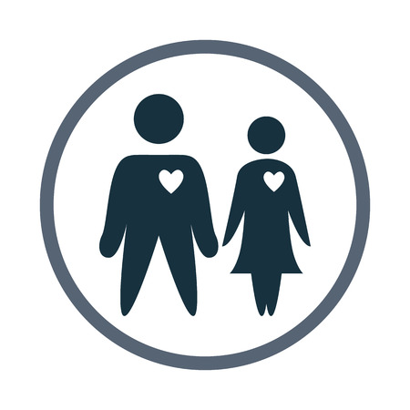 kinship: Couple in love icon Illustration