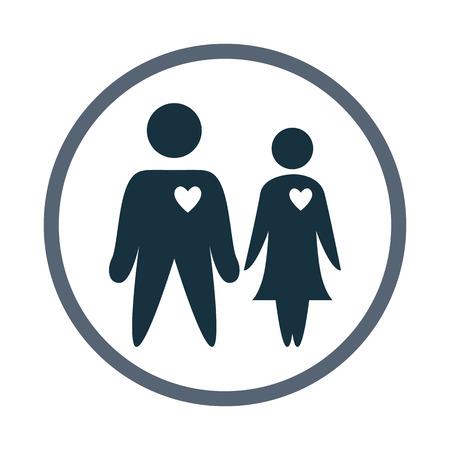 kin: Couple in love icon Illustration