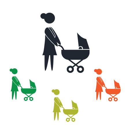kin: Woman with baby icon Illustration
