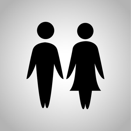 kin: Man and woman icon Illustration