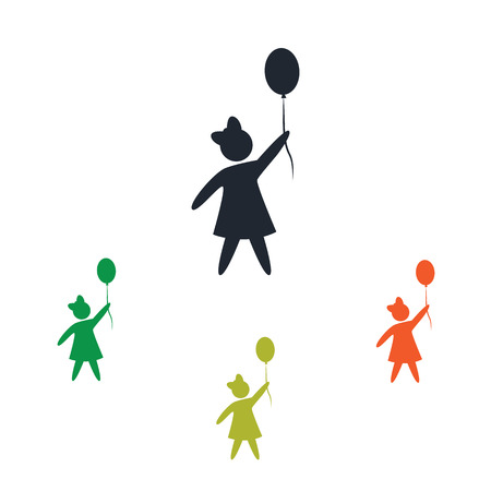 kinship: Girl with balloon icon