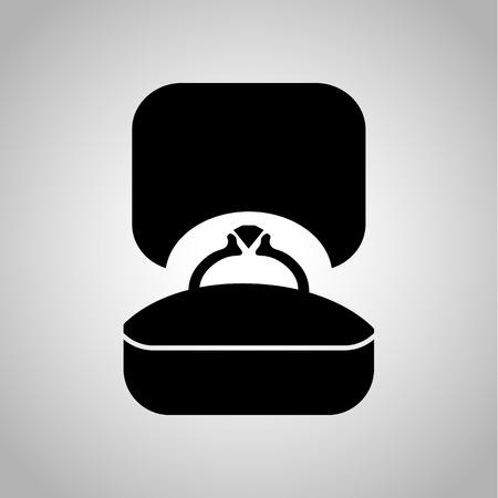 kinship: Wedding ring icon Illustration