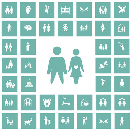 forty: Set of forty family icon