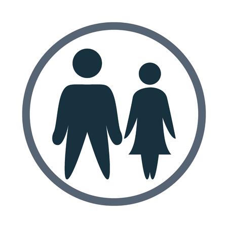 kinship: Women and men icon