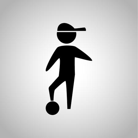 kin: Child with ball icon Illustration