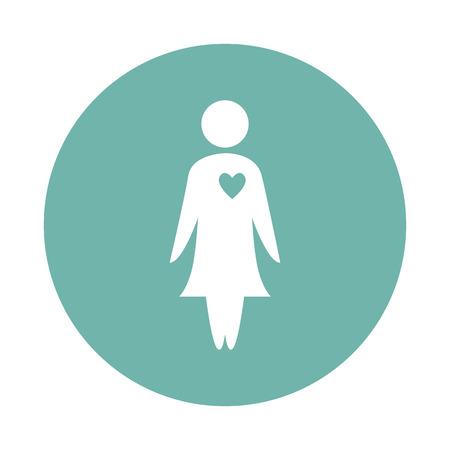 kin: Woman in love icon Illustration